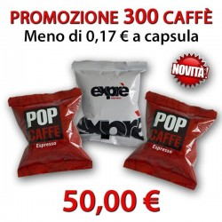 Promo 300 Capsule Pop Caffè compatibili Espresso Point