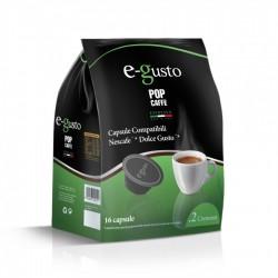 Pop Caffè Capsule E-Gusto Miscela 2 Crema Bar Compatibili Nescafè Dolce Gusto Conf 16 Pz