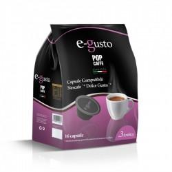 Pop Caffè Capsule E-Gusto Miscela 3 Aromatico Compatibili Nescafè Dolce Gusto Conf 16 Pz