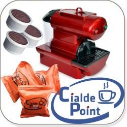 MACCHINA CAFFE NANO + 100 CAPSULE CIALDEPOINT COMPATIBILI OMAGGIO