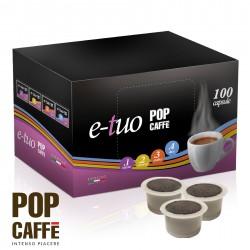 100 CAPSULE E-TUO COMPATIBILI MITACA MPS MISCELA 2 CREMOSO POP CAFFE'